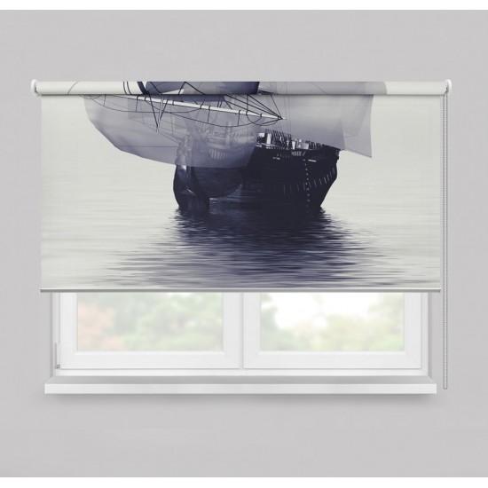 ستارة نافذة رول ثلاثية الابعاد عازله للضوء مقاس 150X200cm موديل رقم RC-007