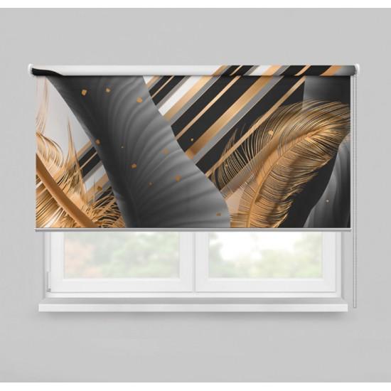 ستارة نافذة رول ثلاثية الابعاد عازله للضوء مقاس 150X200cm موديل رقم RC-160