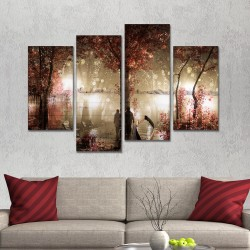 SV 107 لوحة جدارية مقسمة الى 4 قطع مطبوعة على خامة الكاتفاس ومشدودة على اطارات خشبية ، الحجم الكلي 150 في 100 سم موديل
