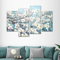 SV 109 لوحة جدارية مقسمة الى 4 قطع مطبوعة على خامة الكاتفاس ومشدودة على اطارات خشبية ، الحجم الكلي 150 في 100 سم موديل
