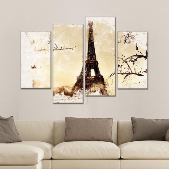SV 111 لوحة جدارية مقسمة الى 4 قطع مطبوعة على خامة الكاتفاس ومشدودة على اطارات خشبية ، الحجم الكلي 150 في 100 سم موديل