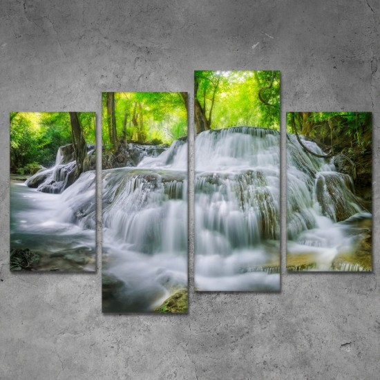 SV 114 لوحة جدارية مقسمة الى 4 قطع مطبوعة على خامة الكاتفاس ومشدودة على اطارات خشبية ، الحجم الكلي 150 في 100 سم موديل