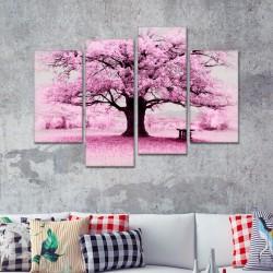 SV 116 لوحة جدارية مقسمة الى 4 قطع مطبوعة على خامة الكاتفاس ومشدودة على اطارات خشبية ، الحجم الكلي 150 في 100 سم موديل