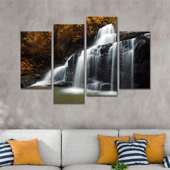 SV 118 لوحة جدارية مقسمة الى 4 قطع مطبوعة على خامة الكاتفاس ومشدودة على اطارات خشبية ، الحجم الكلي 150 في 100 سم موديل