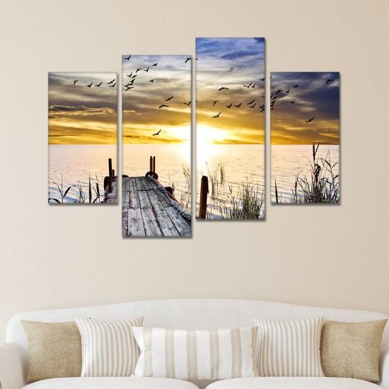 SV 119 لوحة جدارية مقسمة الى 4 قطع مطبوعة على خامة الكاتفاس ومشدودة على اطارات خشبية ، الحجم الكلي 150 في 100 سم موديل