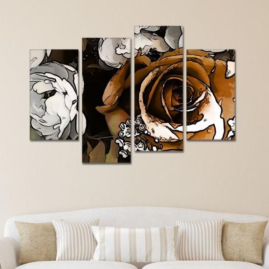 SV 150 لوحة جدارية مقسمة الى 4 قطع مطبوعة على خامة الكاتفاس ومشدودة على اطارات خشبية ، الحجم الكلي 150 في 100 سم موديل