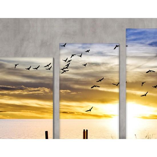 SV 051 لوحة جدارية مقسمة الى 4 قطع مطبوعة على خامة الكاتفاس ومشدودة على اطارات خشبية ، الحجم الكلي 150 في 100 سم موديل