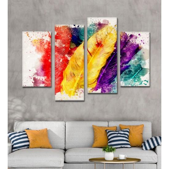 SV 052 لوحة جدارية مقسمة الى 4 قطع مطبوعة على خامة الكاتفاس ومشدودة على اطارات خشبية ، الحجم الكلي 150 في 100 سم موديل