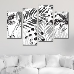 SV 054 لوحة جدارية مقسمة الى 4 قطع مطبوعة على خامة الكاتفاس ومشدودة على اطارات خشبية ، الحجم الكلي 150 في 100 سم موديل