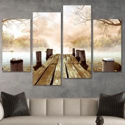 SV 055 لوحة جدارية مقسمة الى 4 قطع مطبوعة على خامة الكاتفاس ومشدودة على اطارات خشبية ، الحجم الكلي 150 في 100 سم موديل