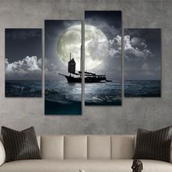 SV 057 لوحة جدارية مقسمة الى 4 قطع مطبوعة على خامة الكاتفاس ومشدودة على اطارات خشبية ، الحجم الكلي 150 في 100 سم موديل