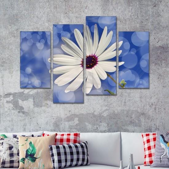 SV 061 لوحة جدارية مقسمة الى 4 قطع مطبوعة على خامة الكاتفاس ومشدودة على اطارات خشبية ، الحجم الكلي 150 في 100 سم موديل