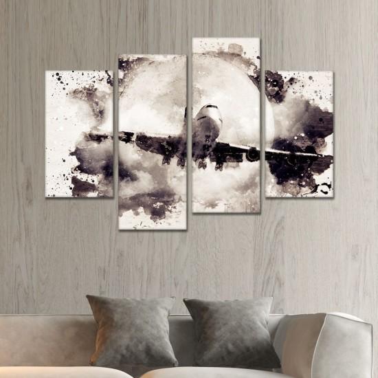 SV 064لوحة جدارية مقسمة الى 4 قطع مطبوعة على خامة الكاتفاس ومشدودة على اطارات خشبية ، الحجم الكلي 150 في 100 سم موديل