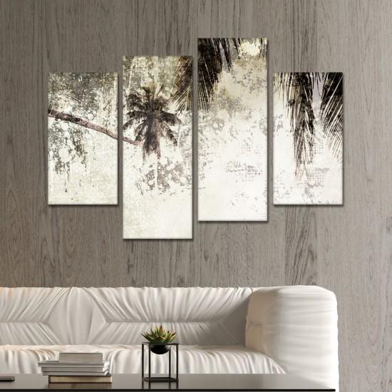 SV 065 لوحة جدارية مقسمة الى 4 قطع مطبوعة على خامة الكاتفاس ومشدودة على اطارات خشبية ، الحجم الكلي 150 في 100 سم موديل