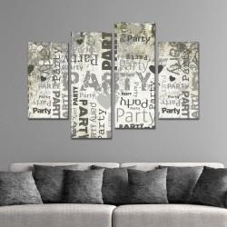 SV 066 لوحة جدارية مقسمة الى 4 قطع مطبوعة على خامة الكاتفاس ومشدودة على اطارات خشبية ، الحجم الكلي 150 في 100 سم موديل
