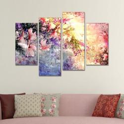 SV 068 لوحة جدارية مقسمة الى 4 قطع مطبوعة على خامة الكاتفاس ومشدودة على اطارات خشبية ، الحجم الكلي 150 في 100 سم موديل