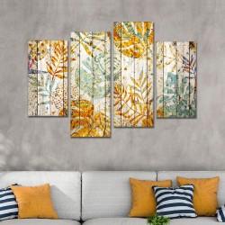 SV 069 لوحة جدارية مقسمة الى 4 قطع مطبوعة على خامة الكاتفاس ومشدودة على اطارات خشبية ، الحجم الكلي 150 في 100 سم موديل