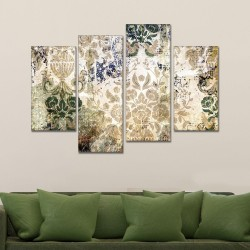 SV 071 لوحة جدارية مقسمة الى 4 قطع مطبوعة على خامة الكاتفاس ومشدودة على اطارات خشبية ، الحجم الكلي 150 في 100 سم موديل