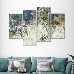 SV 073 لوحة جدارية مقسمة الى 4 قطع مطبوعة على خامة الكاتفاس ومشدودة على اطارات خشبية ، الحجم الكلي 150 في 100 سم موديل