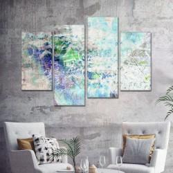 SV 078 لوحة جدارية مقسمة الى 4 قطع مطبوعة على خامة الكاتفاس ومشدودة على اطارات خشبية ، الحجم الكلي 150 في 100 سم موديل