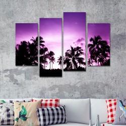 SV 079 لوحة جدارية مقسمة الى 4 قطع مطبوعة على خامة الكاتفاس ومشدودة على اطارات خشبية ، الحجم الكلي 150 في 100 سم موديل