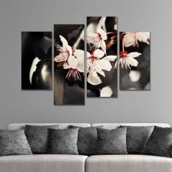 SV 083 لوحة جدارية مقسمة الى 4 قطع مطبوعة على خامة الكاتفاس ومشدودة على اطارات خشبية ، الحجم الكلي 150 في 100 سم موديل
