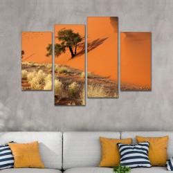 SV 085 لوحة جدارية مقسمة الى 4 قطع مطبوعة على خامة الكاتفاس ومشدودة على اطارات خشبية ، الحجم الكلي 150 في 100 سم موديل