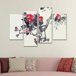 SV 088 لوحة جدارية مقسمة الى 4 قطع مطبوعة على خامة الكاتفاس ومشدودة على اطارات خشبية ، الحجم الكلي 150 في 100 سم موديل