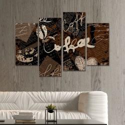 SV 089 لوحة جدارية مقسمة الى 4 قطع مطبوعة على خامة الكاتفاس ومشدودة على اطارات خشبية ، الحجم الكلي 150 في 100 سم موديل